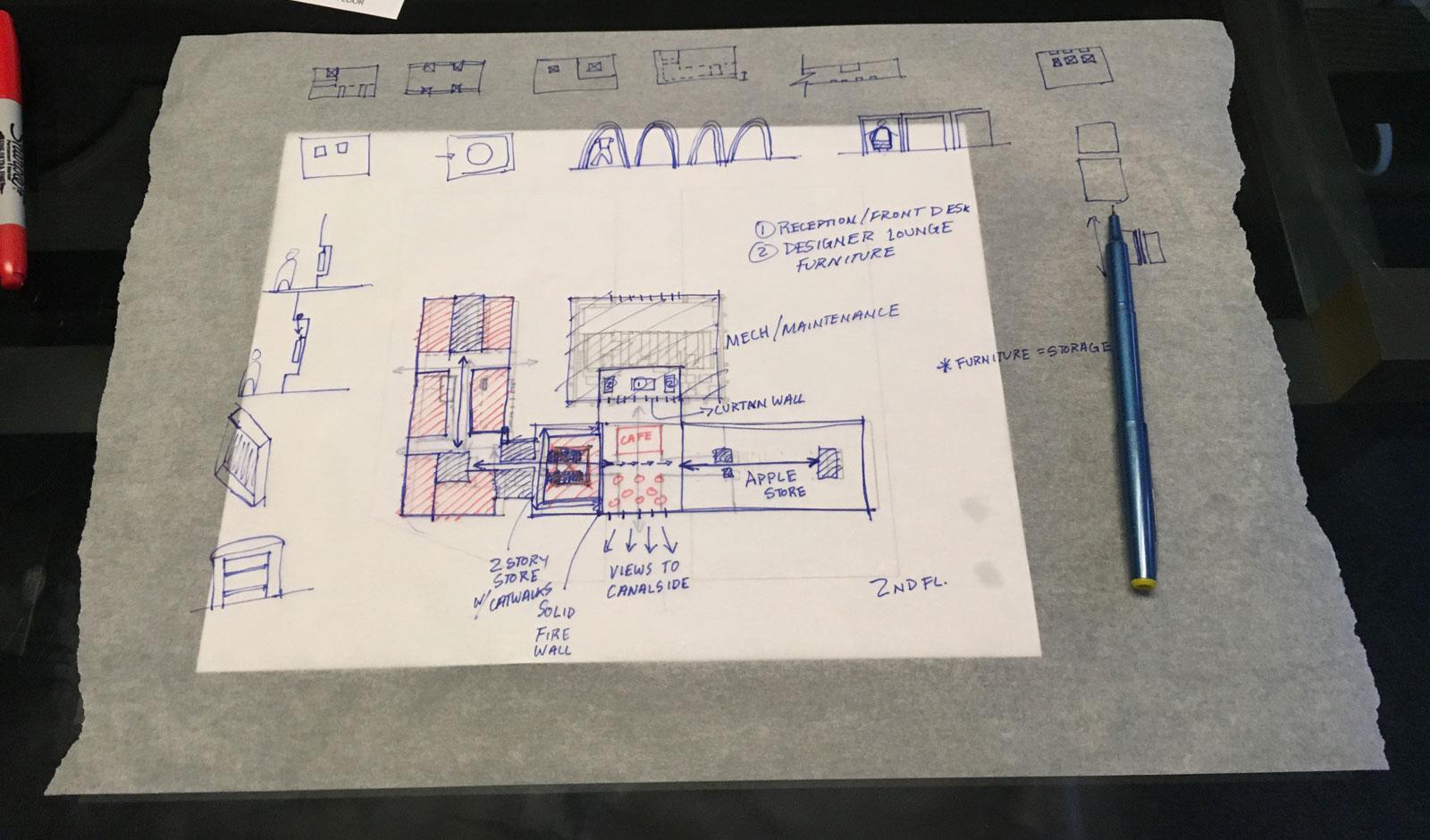 3x30 - One Seneca Tower Design Charrette Sketches