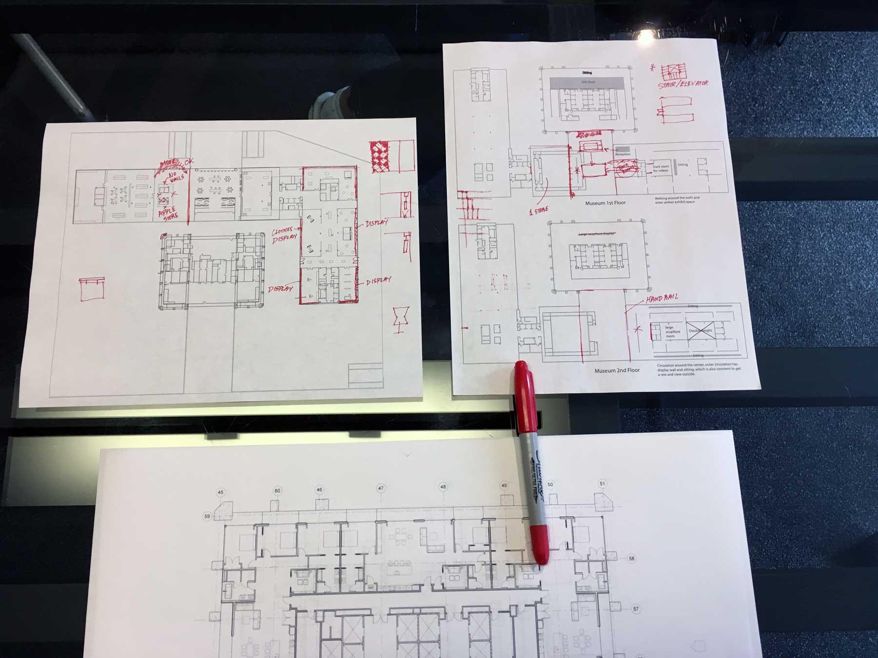Museum design development for One Seneca Tower