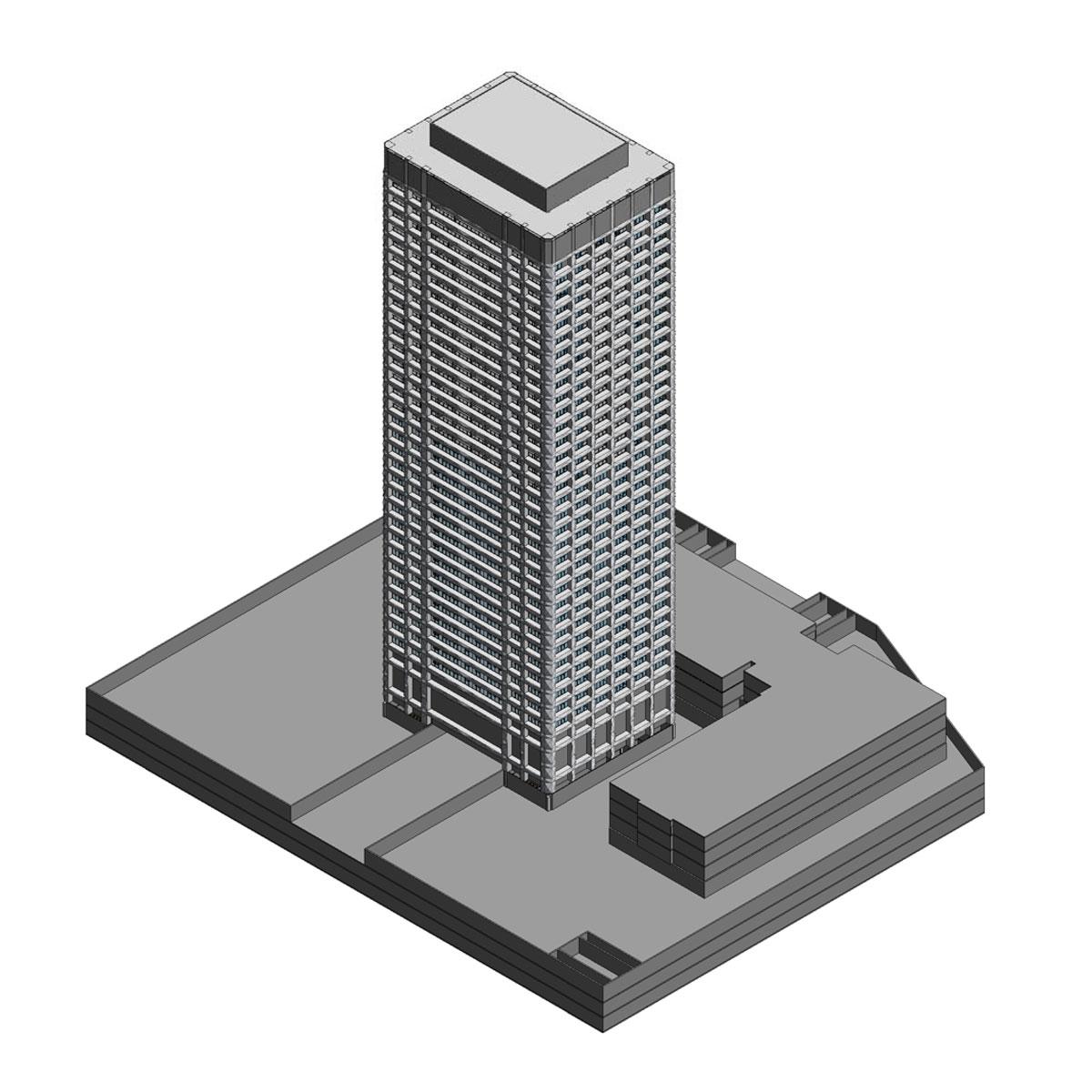 One Seneca Tower Schematic Design Revit Model