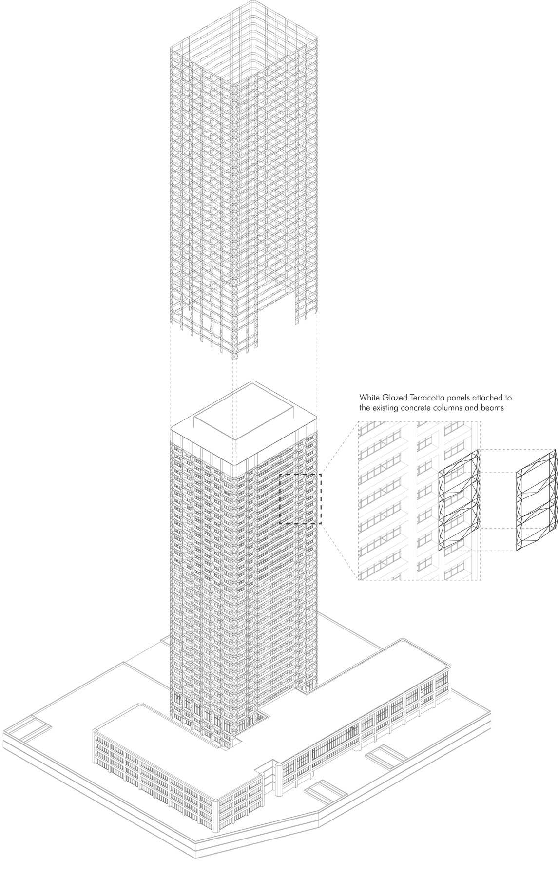 One Seneca Tower Terracotta Panel System