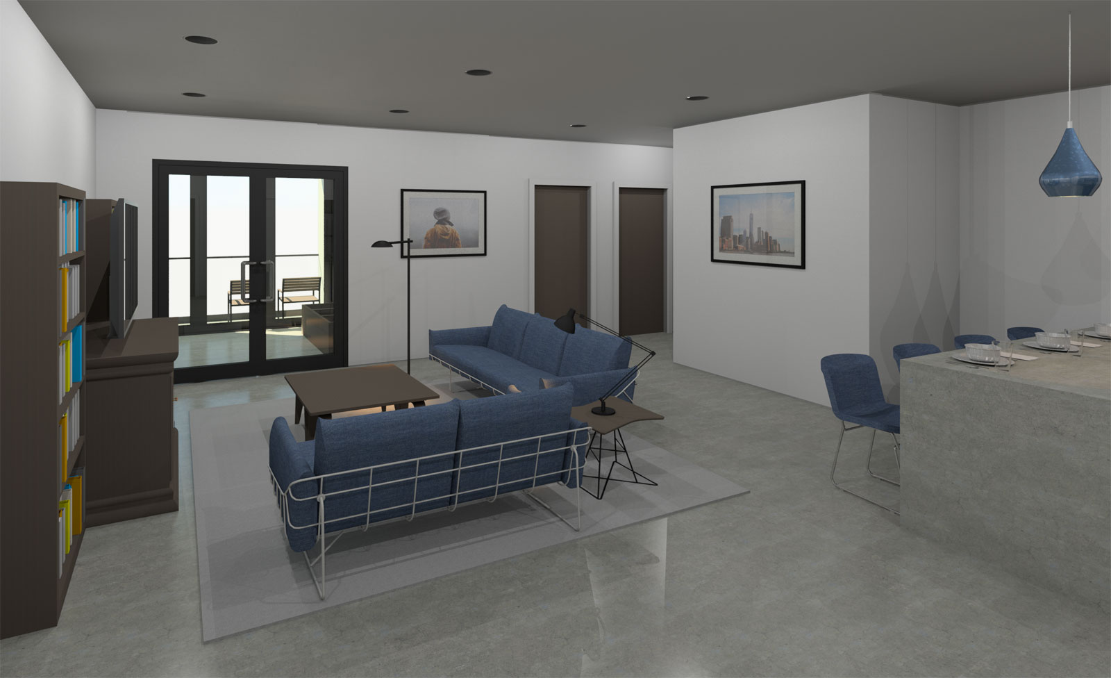 2 Bedroom Interior Initial