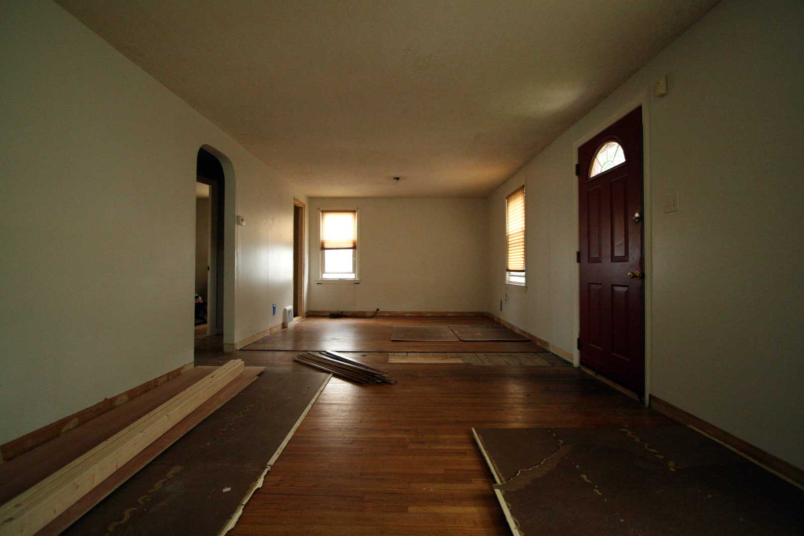 Replacing some of the wood floors