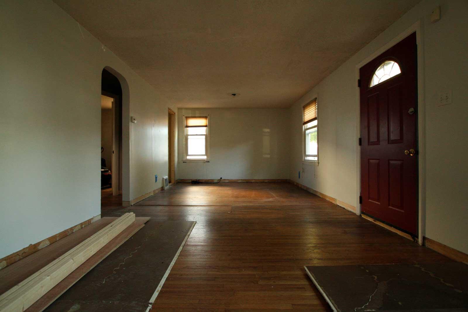 Infilled wood floors