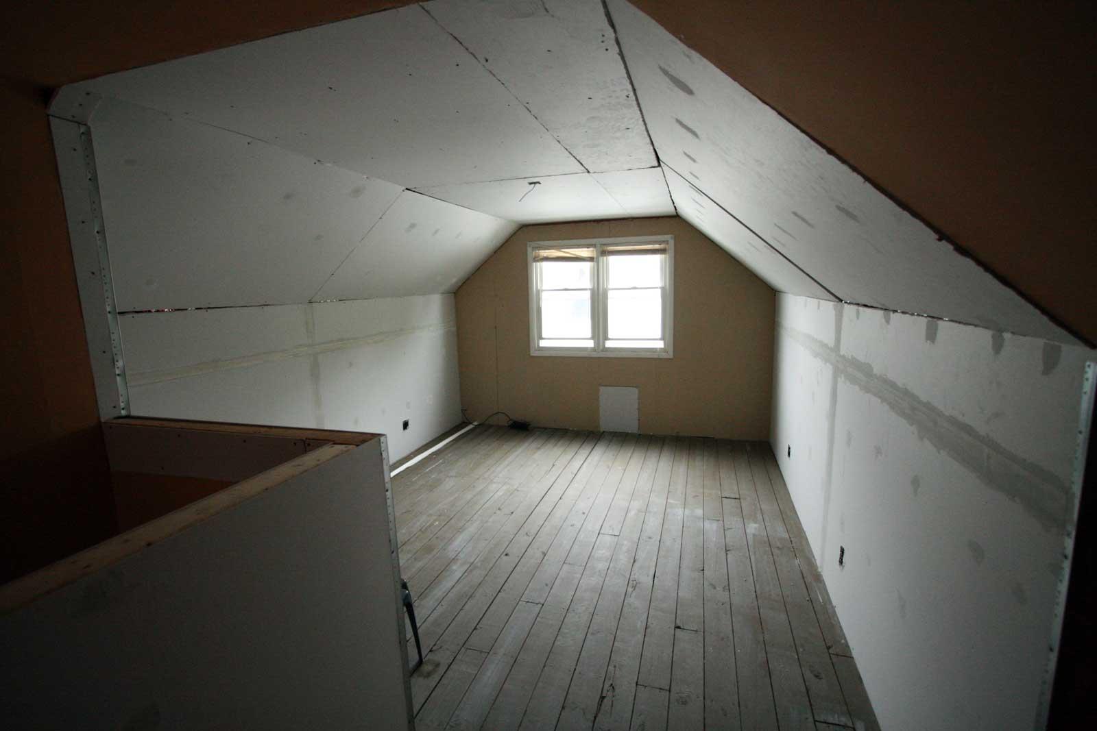 Drywall in attic