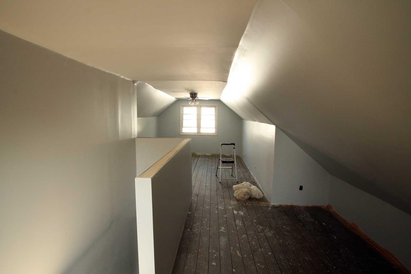 Painting attic walls