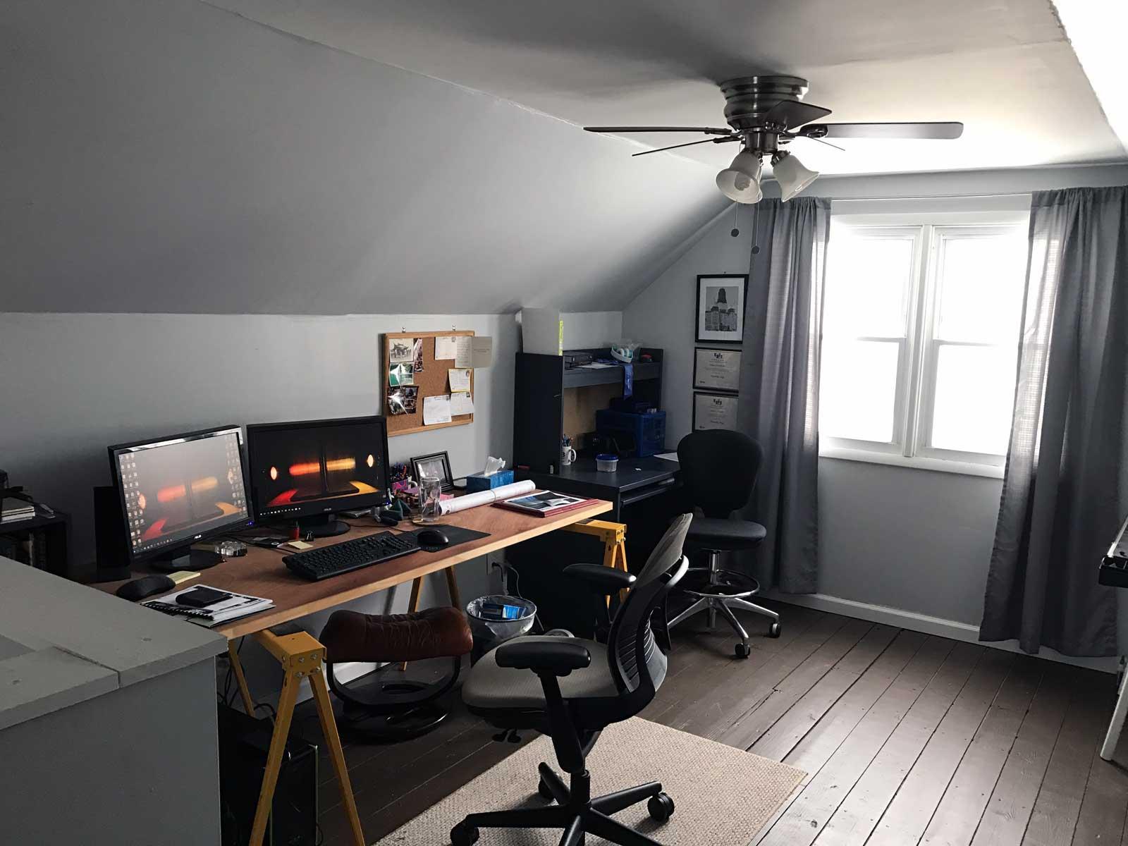Studio space in the attic