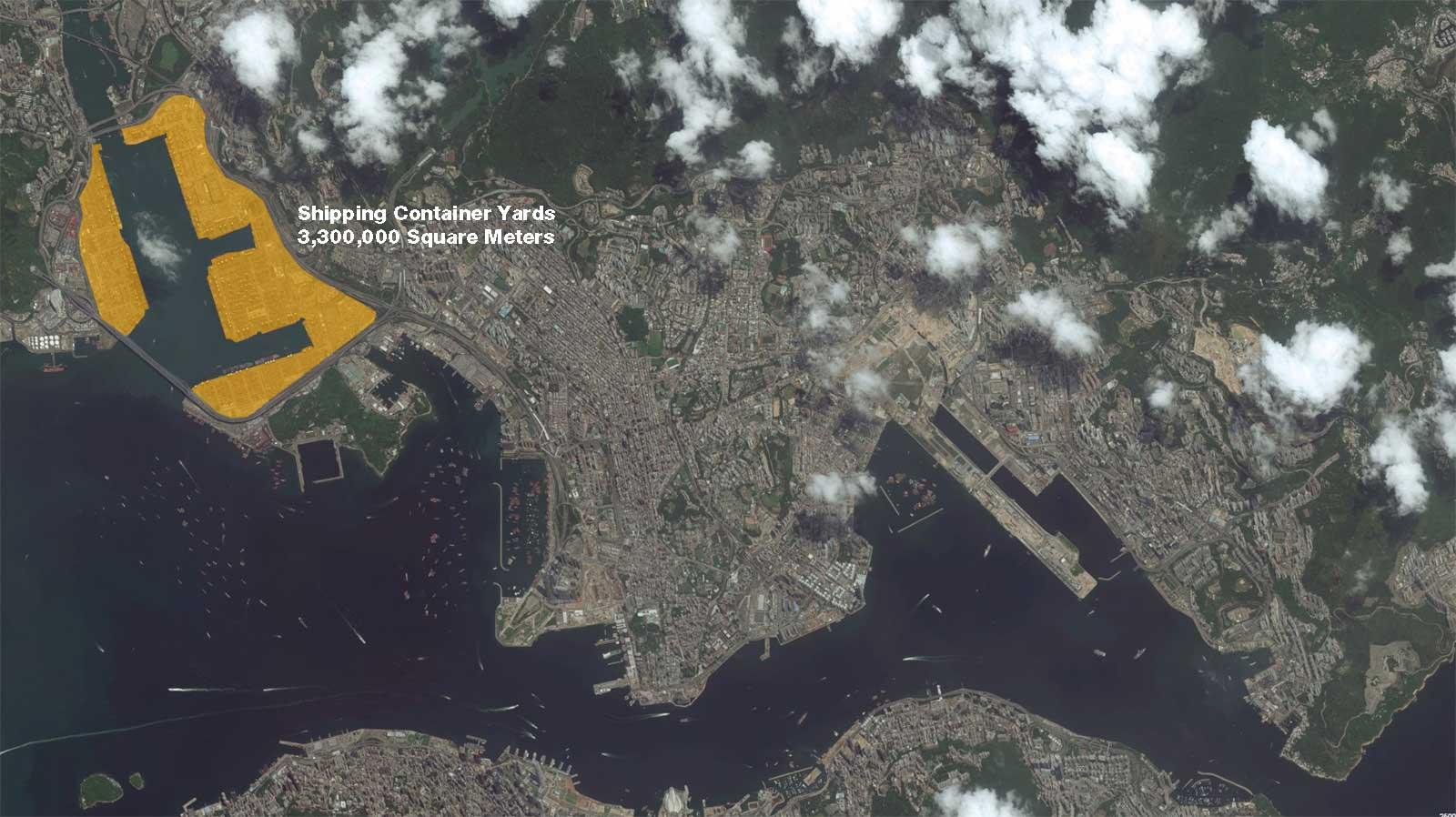 Hong Kong Shipping Container Yard