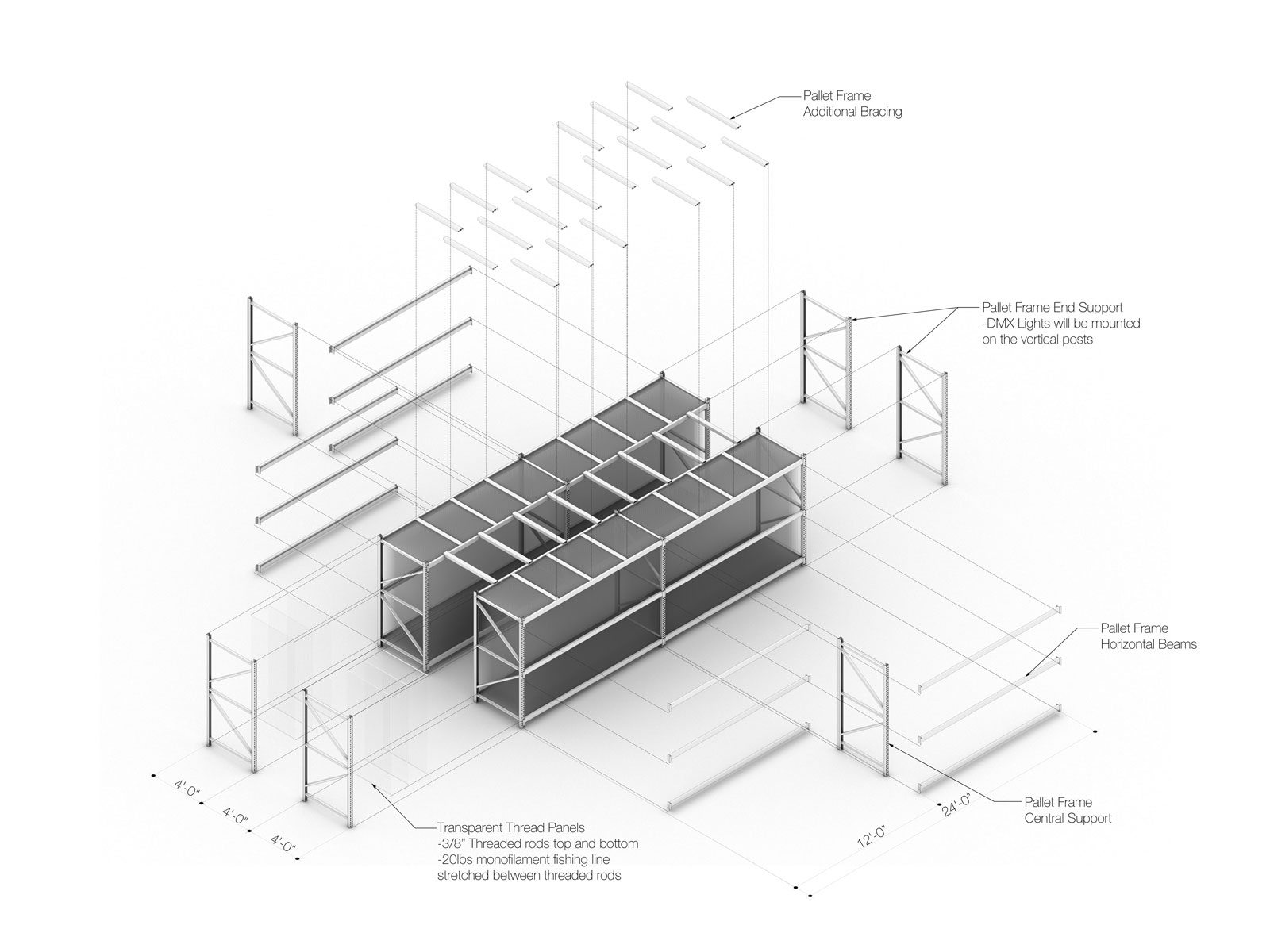 Exploded Axonometric View of Field of Light