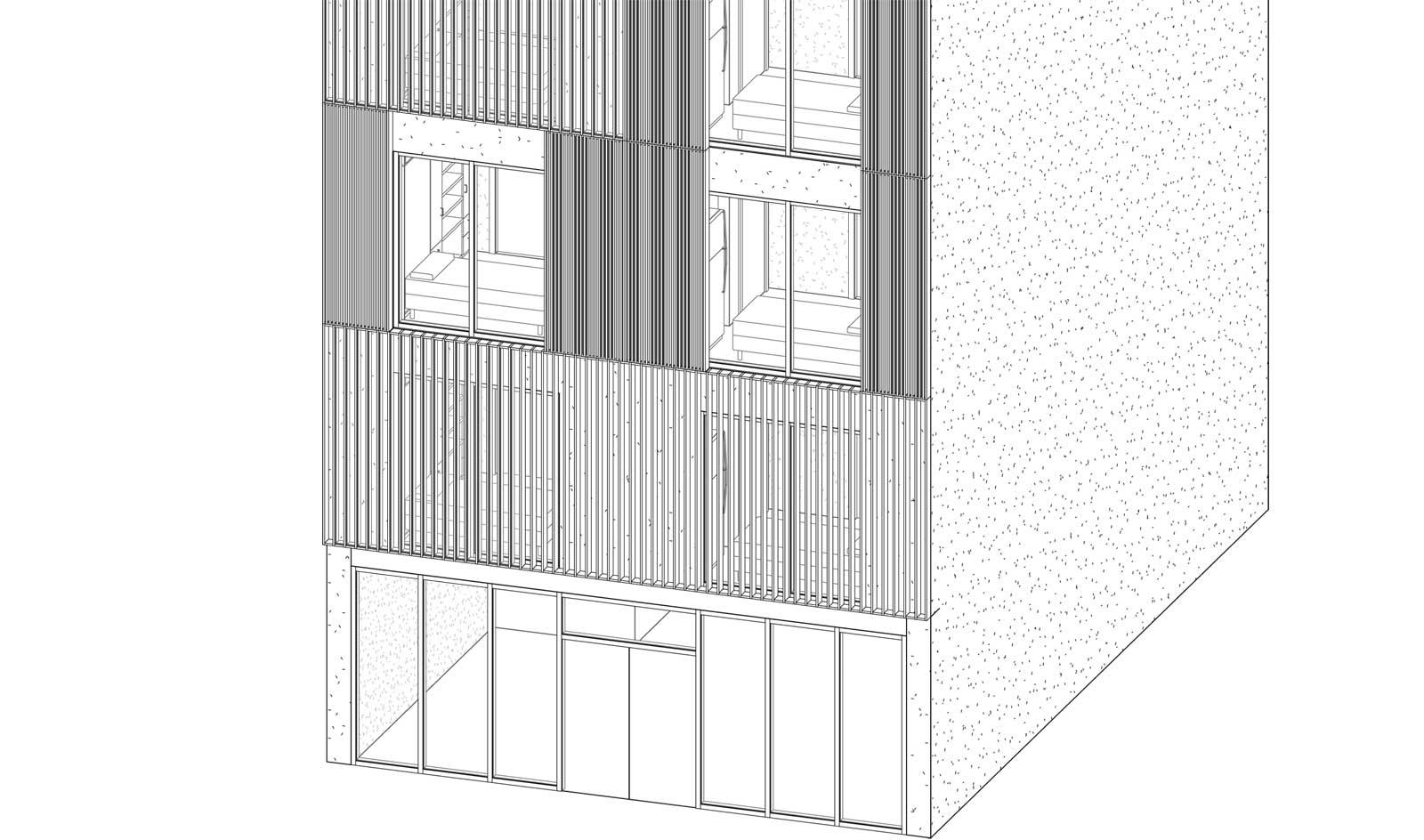 Micro Housing China - Initial Ground Floor Design
