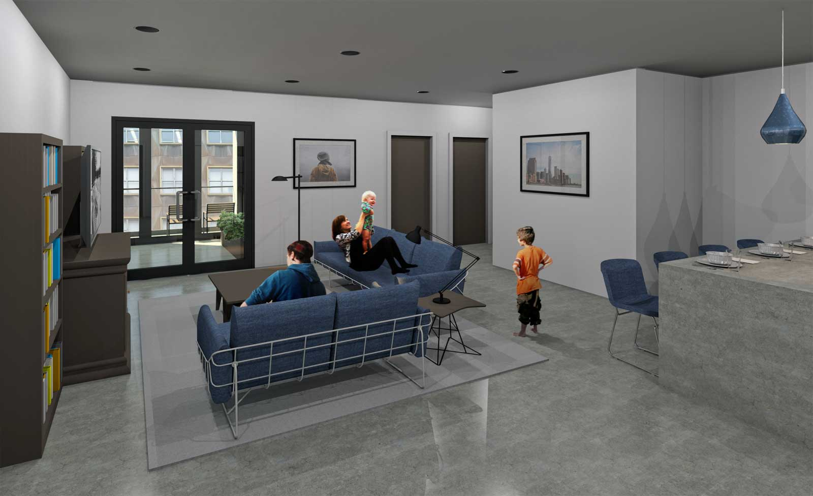 NYC Net Zero Public Housing Living Room