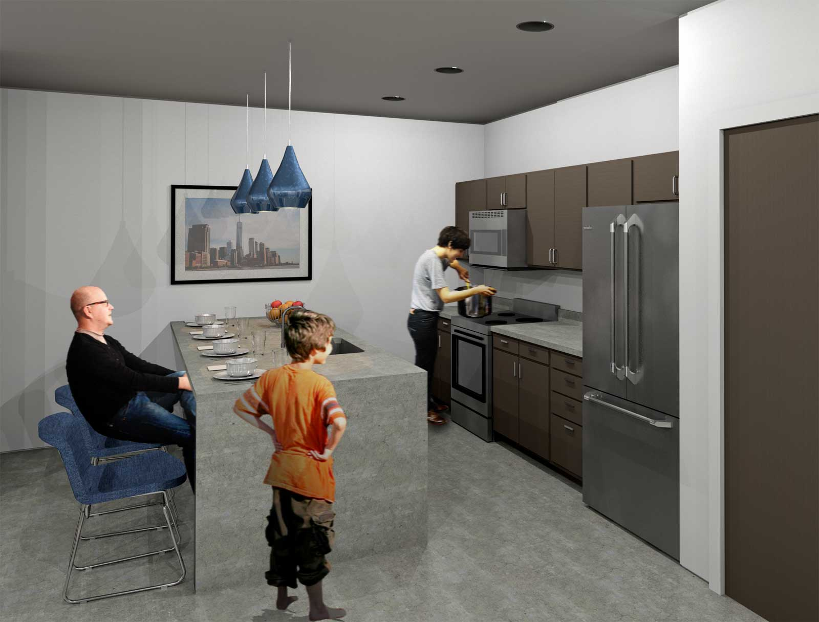 NYC Net Zero Public Housing Kitchen