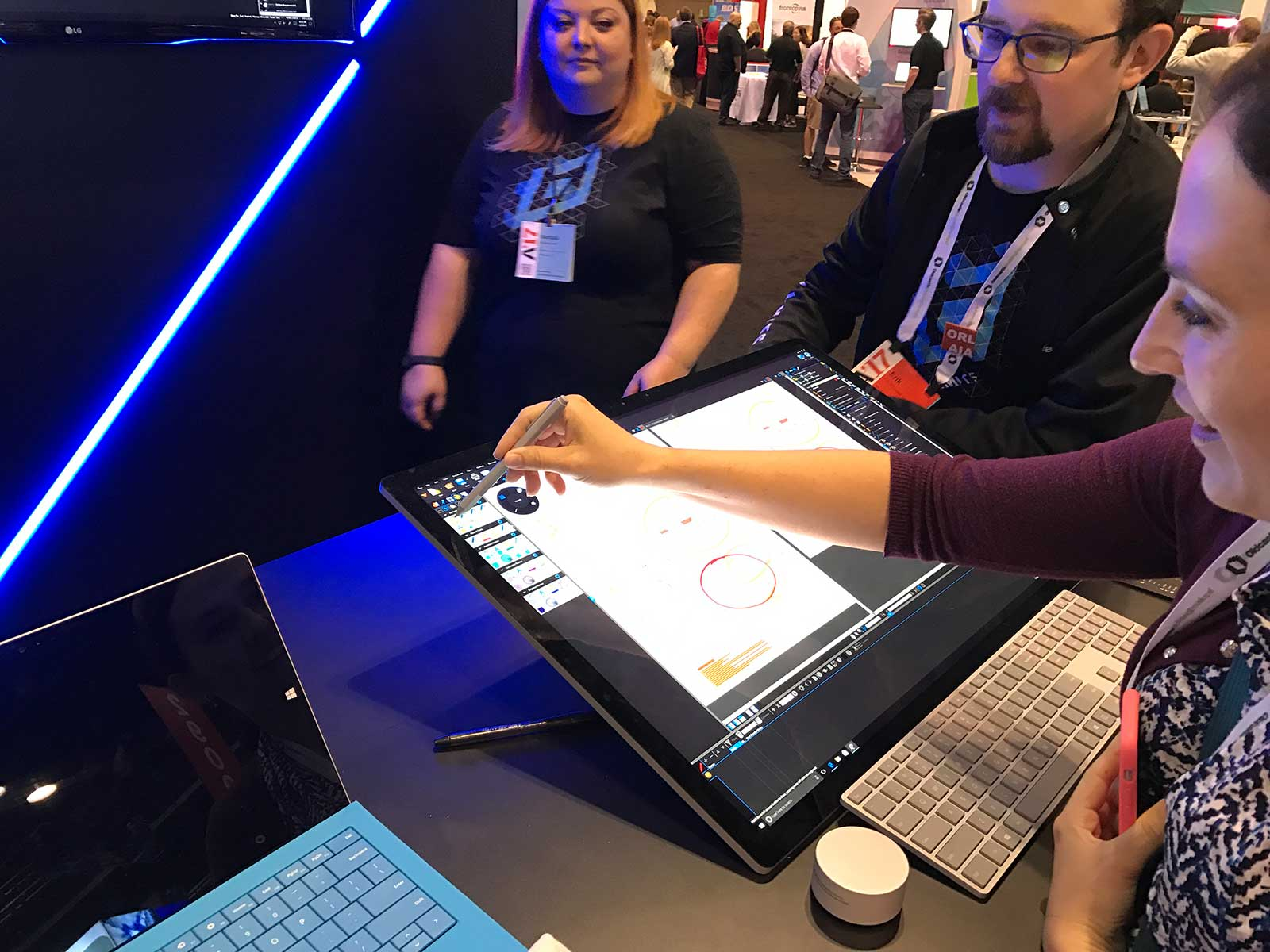 Marking up a drawing using Bluebeam on Surface Studio