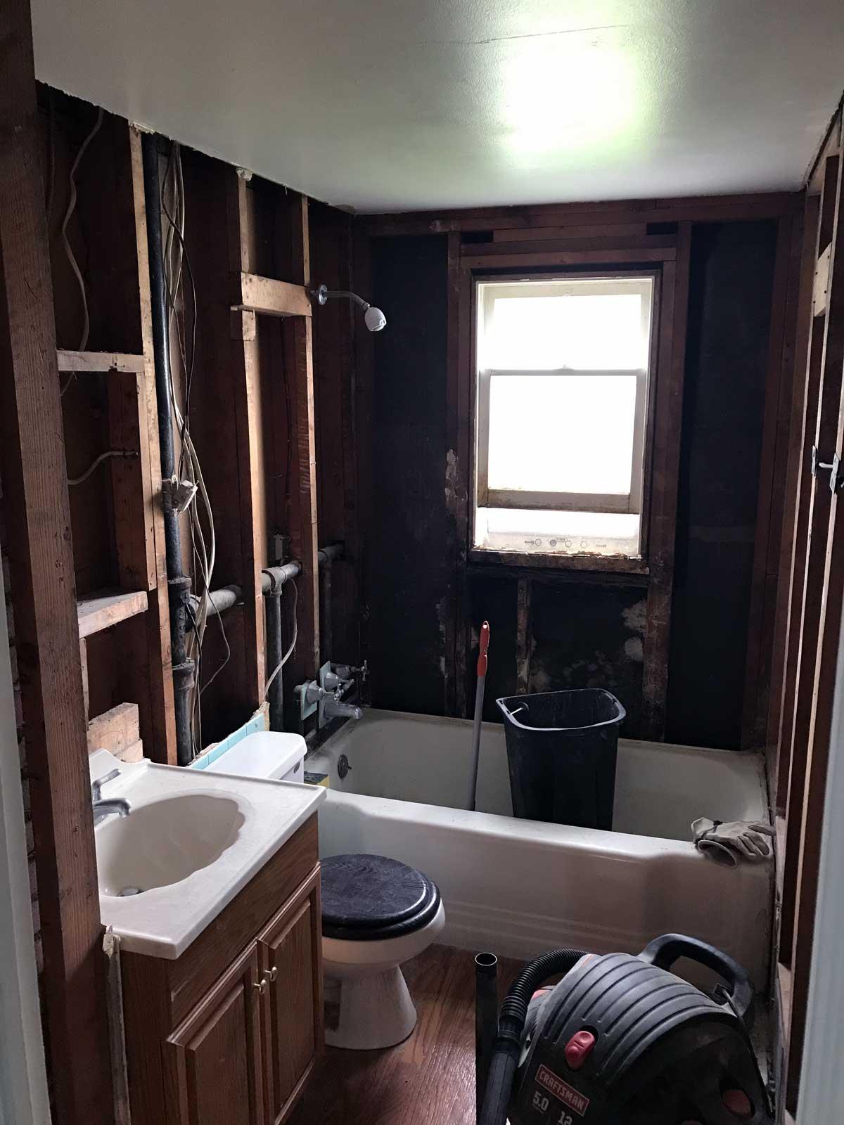 15 Day Bathroom Renovation Demolition 03