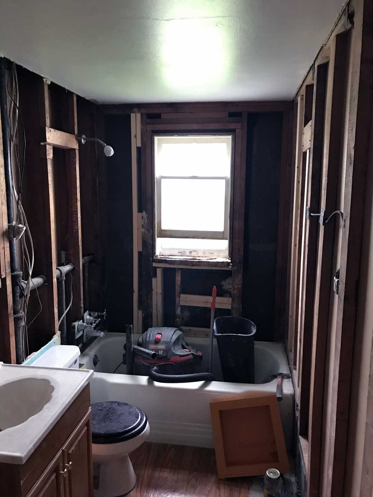 15 Day Bathroom Renovation Framing 01