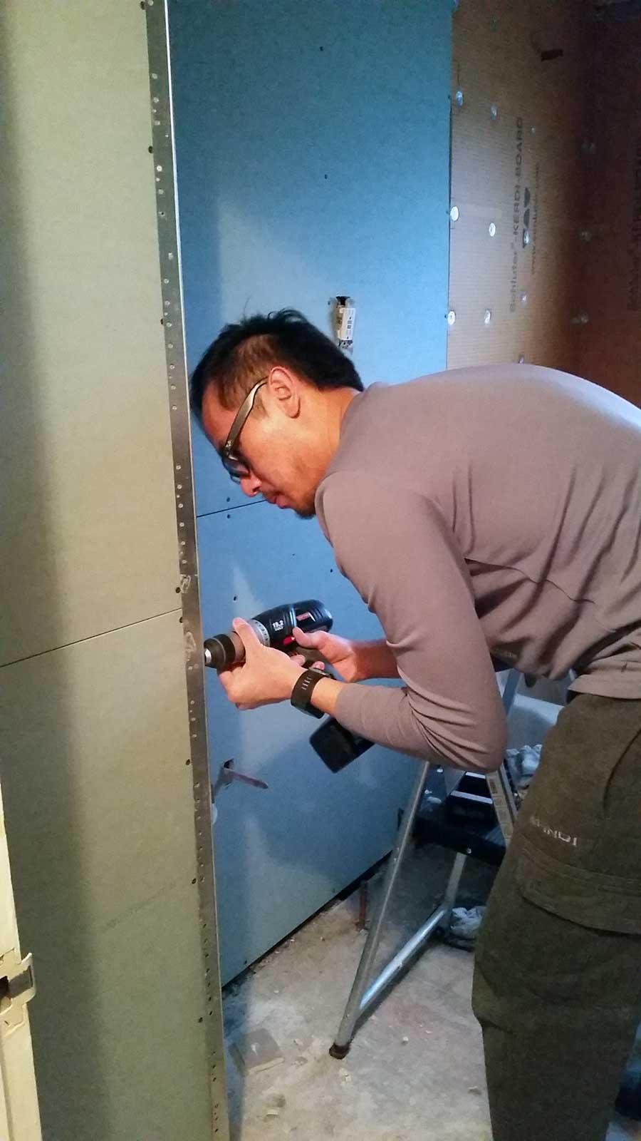 15 Day Bathroom Renovation Green Board 02