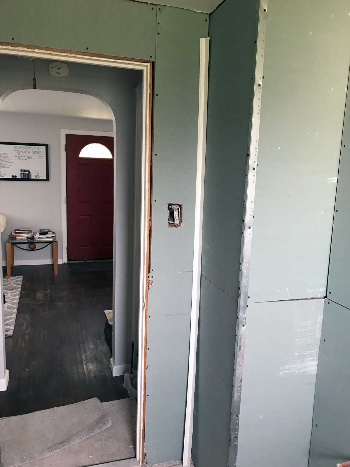 15 Day Bathroom Renovation Green Board 04