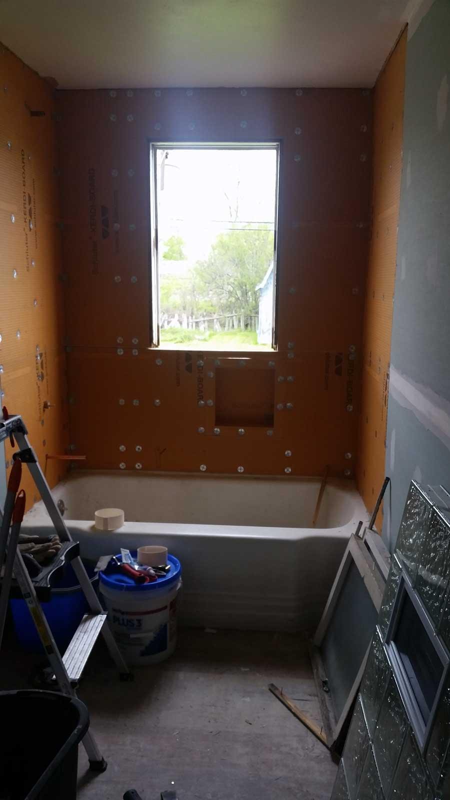 15 Day Bathroom Renovation Plaster 01