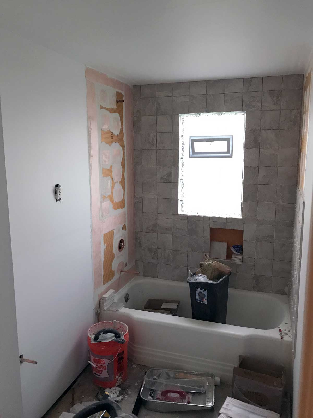 15 Day Bathroom Renovation Tiling Day 01