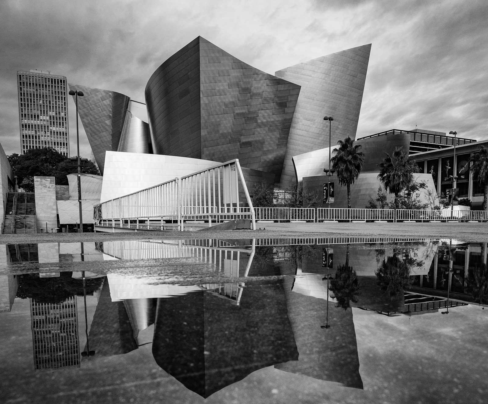 Walt Disney Concert Hall by Frank Gehry. Photo by Matt McK