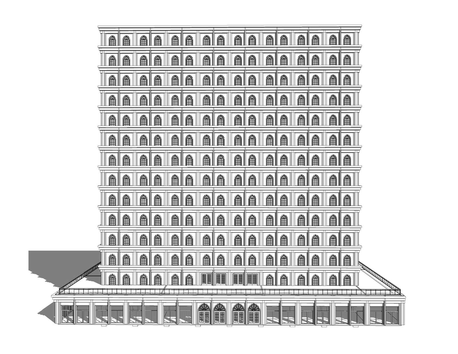 Sky Mausoleum Elevation