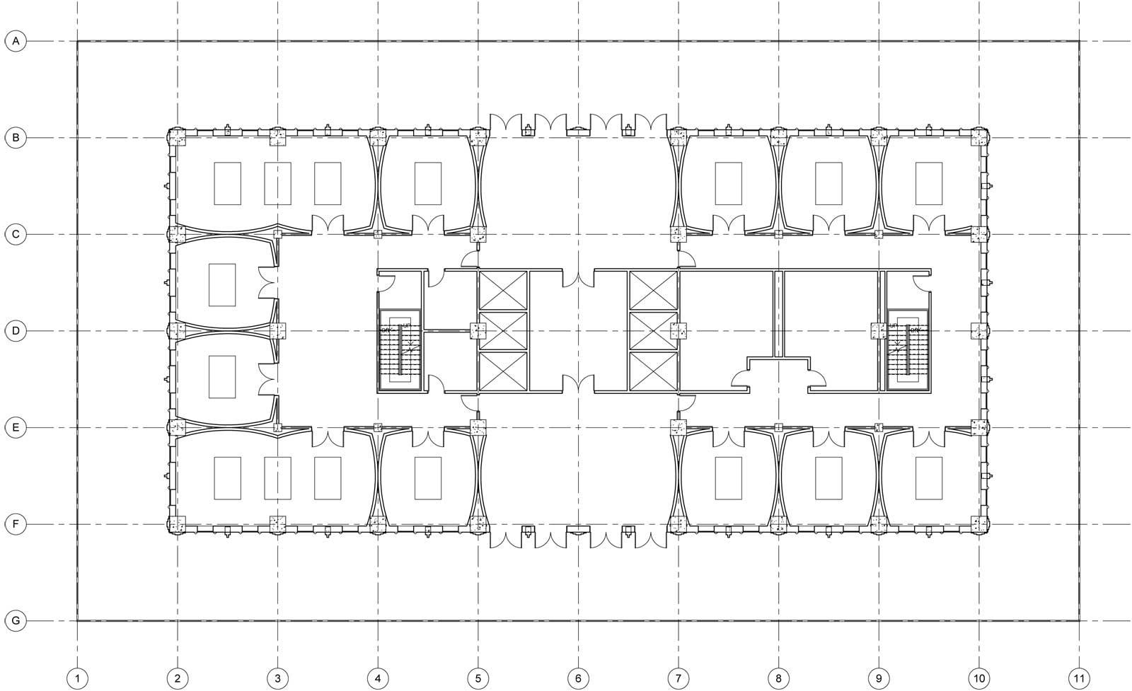 Sky Mausoleum Second Floor Plan