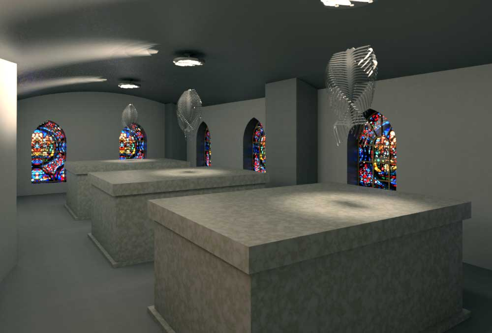 Sky Mausoleum Interior Draft Render