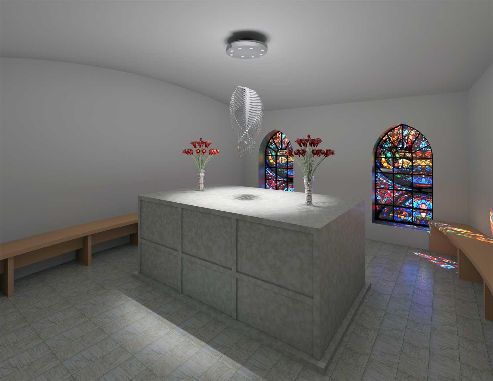 Sky Mausoleum Interior Initial Render