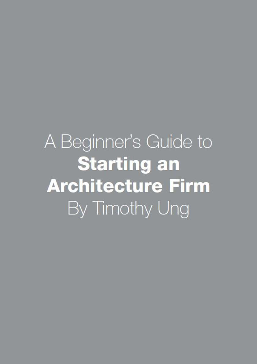 Starting an Architecture Firm Cover