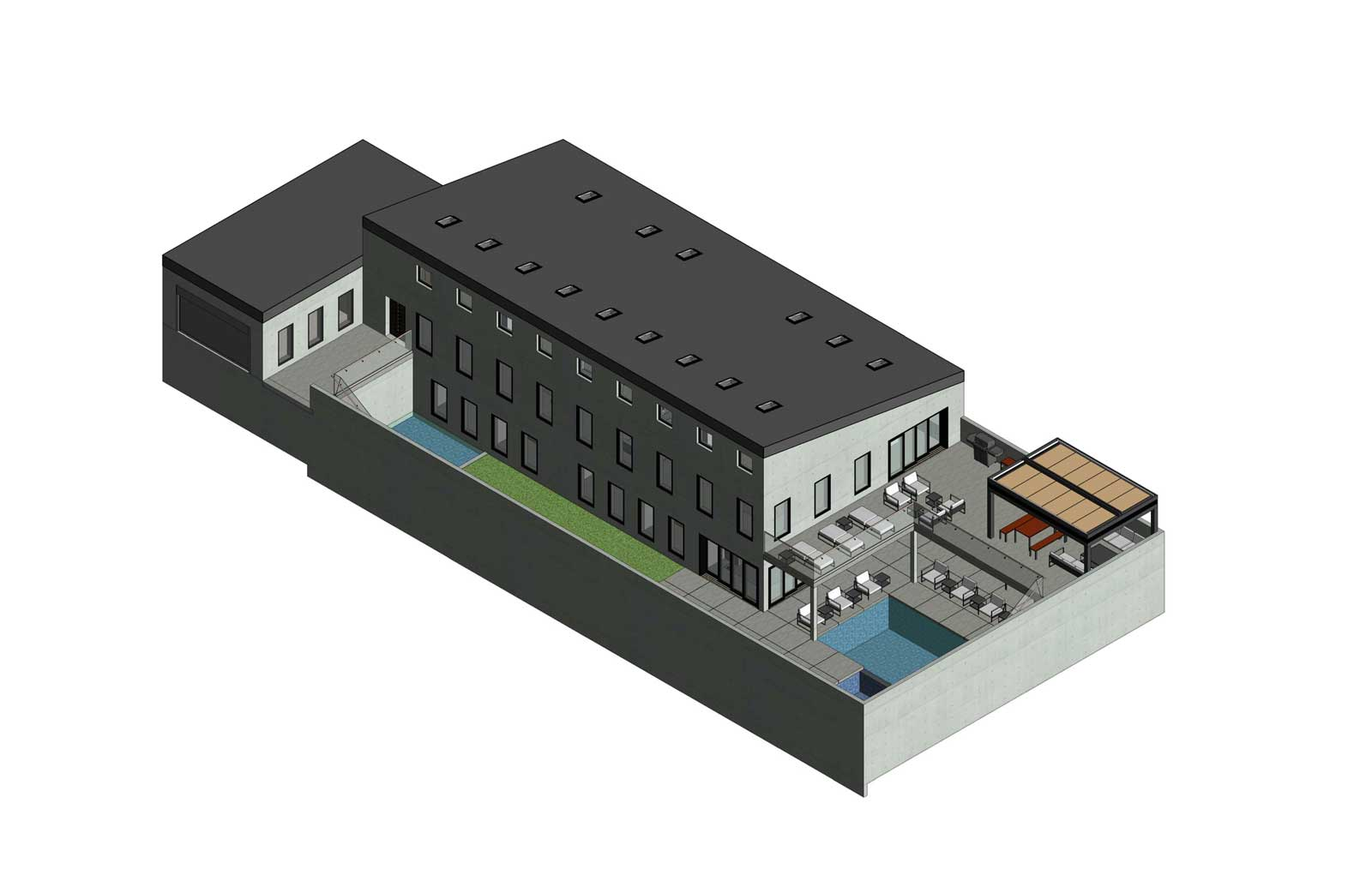17x30 - Single Family High End Residence - Axon Sketch