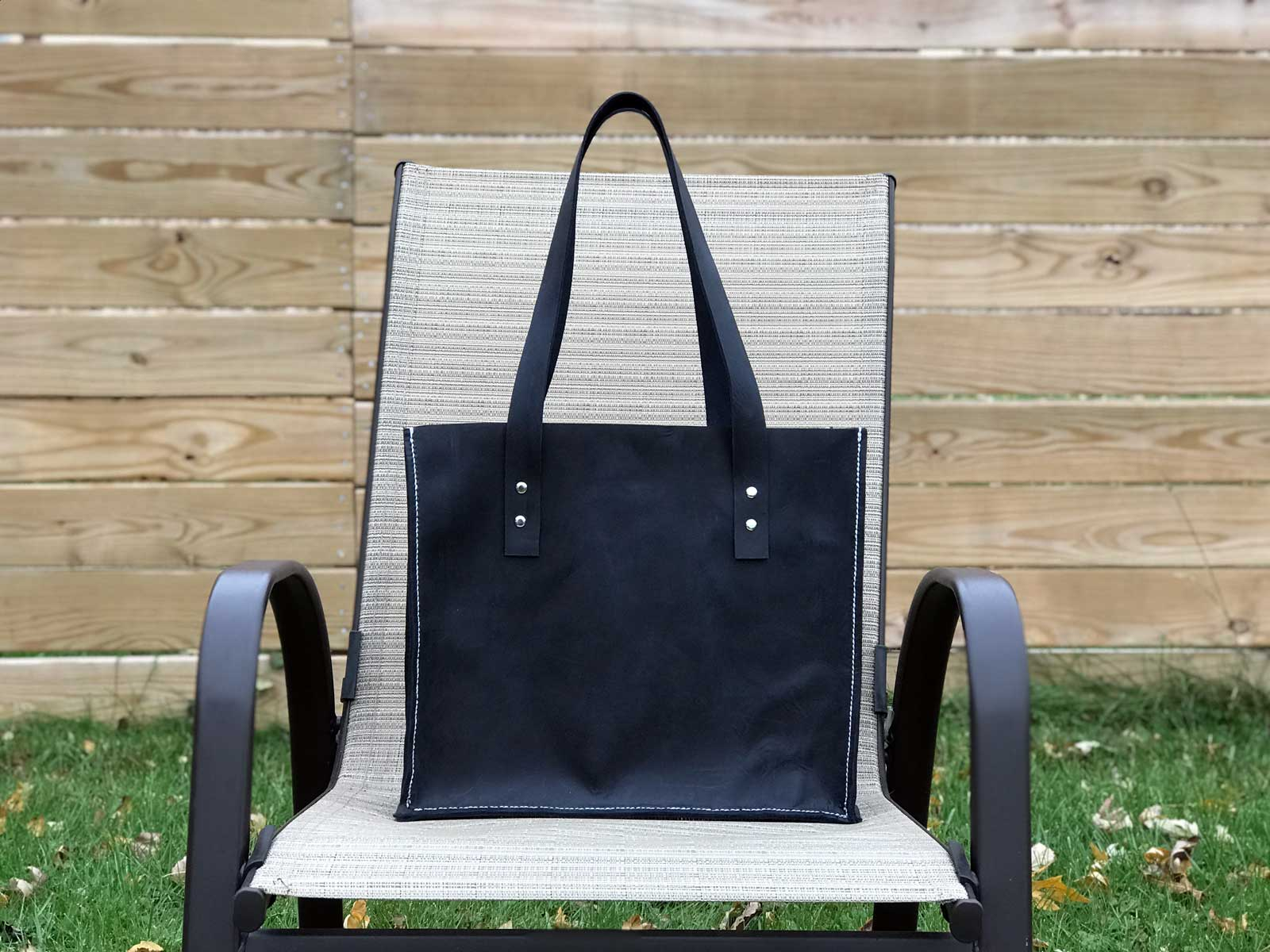 16x30 - Midnight Blue Leather Bag
