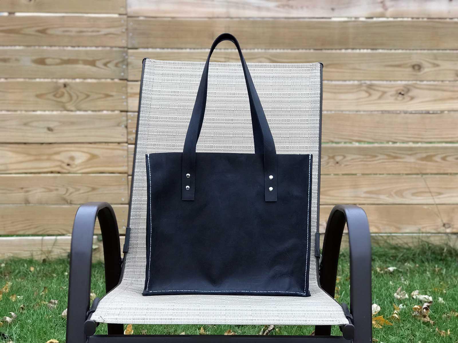16x30 - Midnight Blue Leather Bag