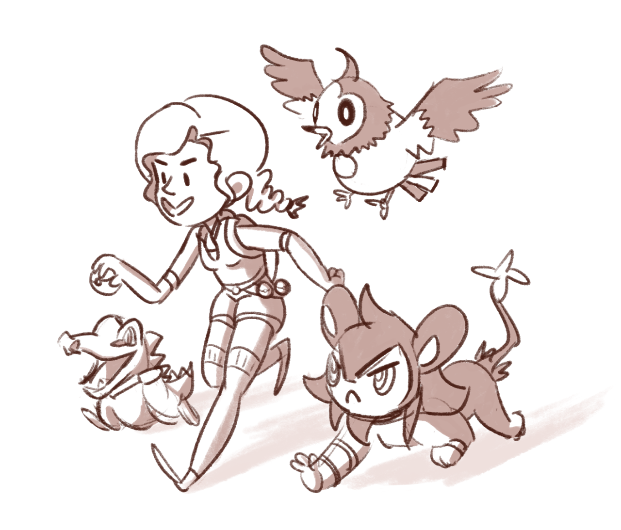 #358 a portion of my fav little poke-team :3