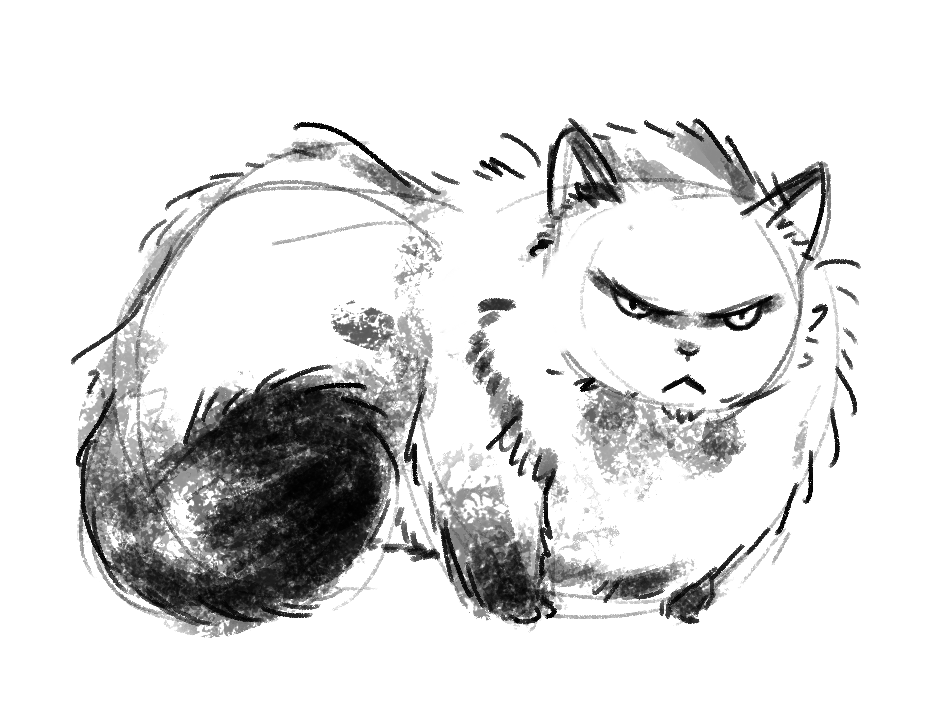 Started another challenge of 3 minute doodles daily for May…. all cats