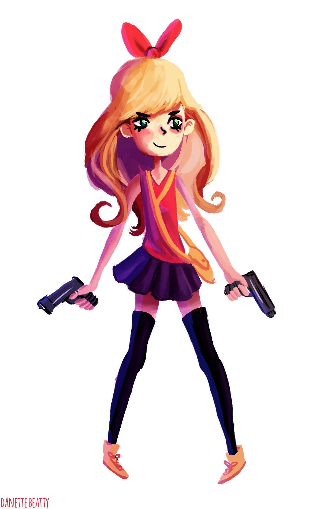 #212 is a girl with some guns