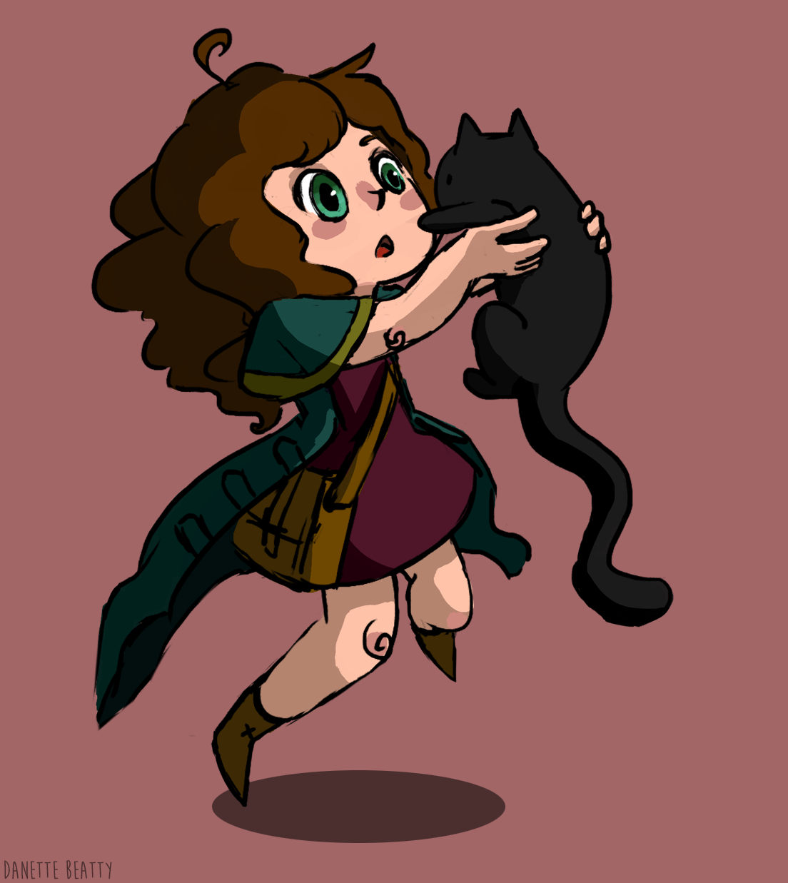 #168 is my witchsona for witchsona week! I love cats.
