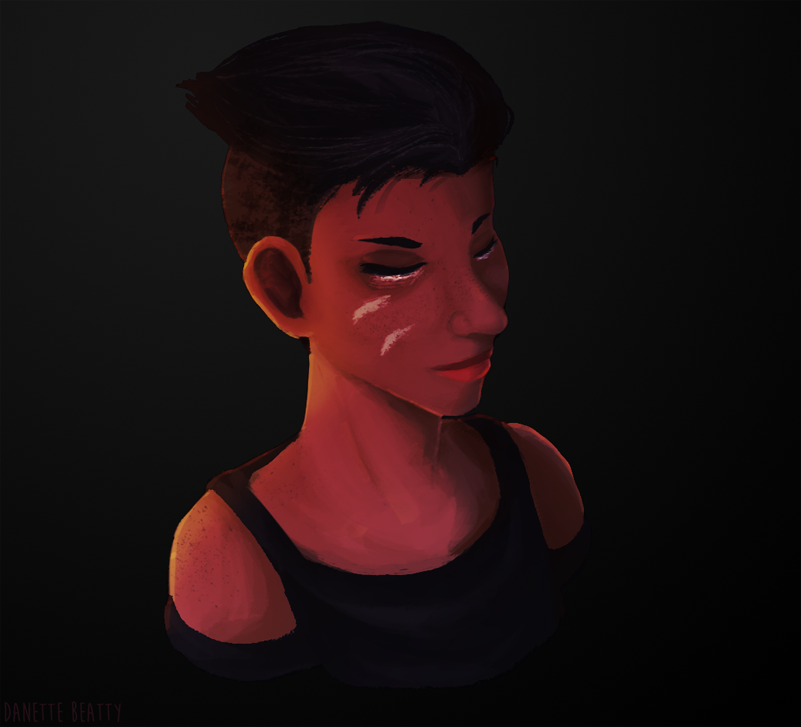 Practicing my painterly realism style in this one