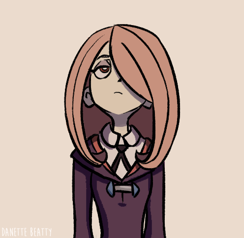#108 is some fan art of Little Witch Academia's Sucy :)
