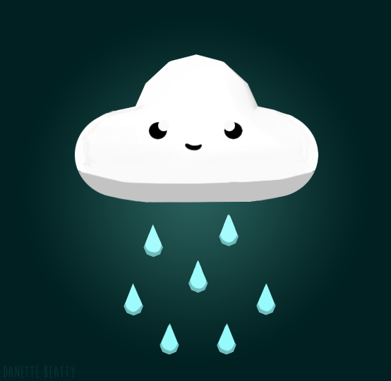 #107 is apart of a mini game jam thing I'm doing, which is about a happy little cloud that grows plants by watering them <3