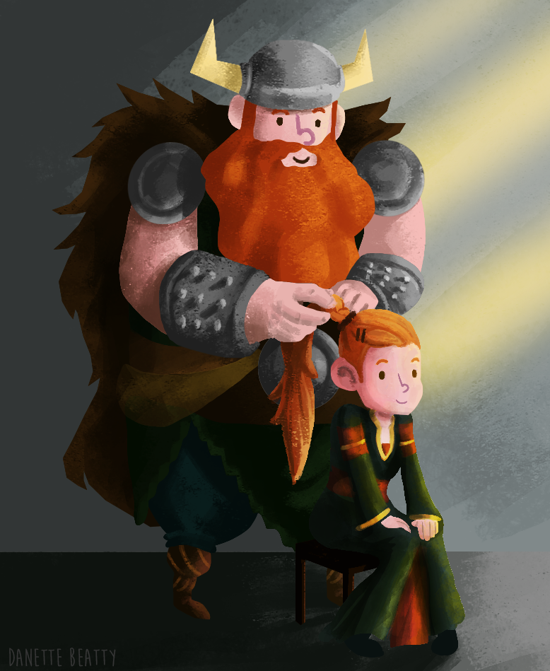 #98 is the painted version of #97! I just had to color it and unfortunately I didn't have enough time yesterday.  Viking dad life!
