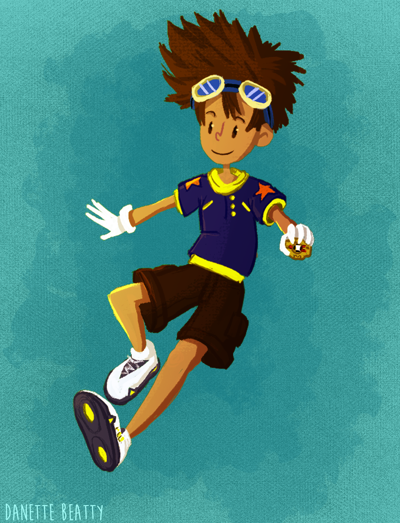 #92 is Tai because Digimon was a huge part of my childhood and I'm bringing it back!
