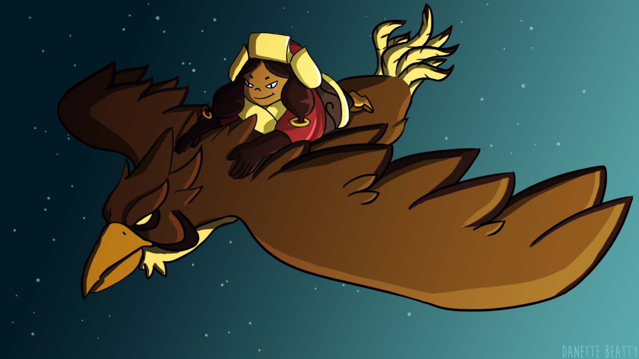 #86 is some fan art of  @indivisiblerpg  's Kushi & Altun