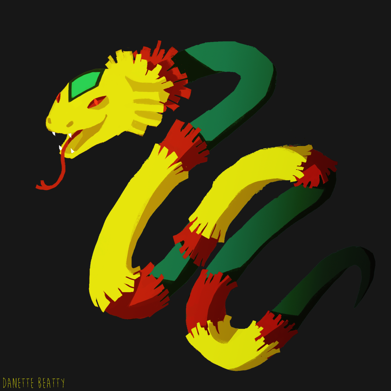 Pinata snake :D may make an appearance in Papercraft!