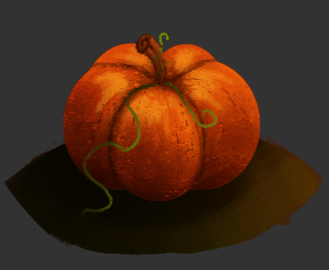 Pum-pum-pumpkin! Part of a small comic I didn't have time to color all the way today, but will be coming soon! :D