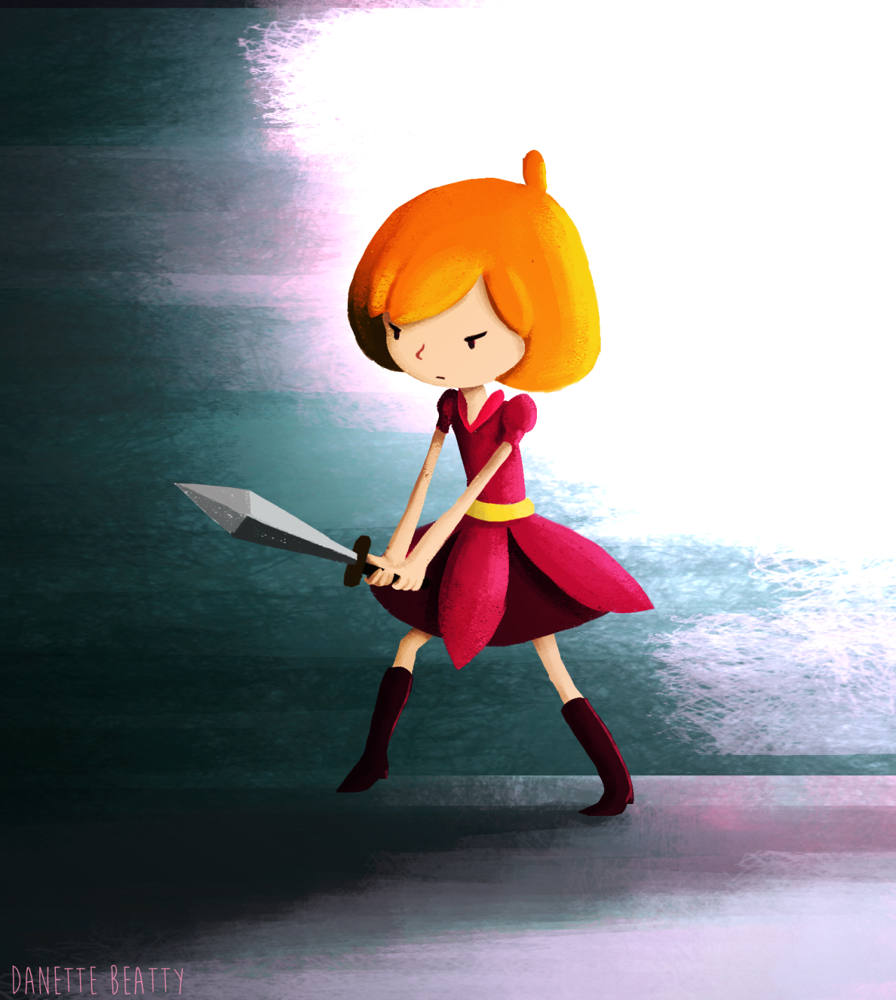 Marta is fierce today >:D daily doodle #46