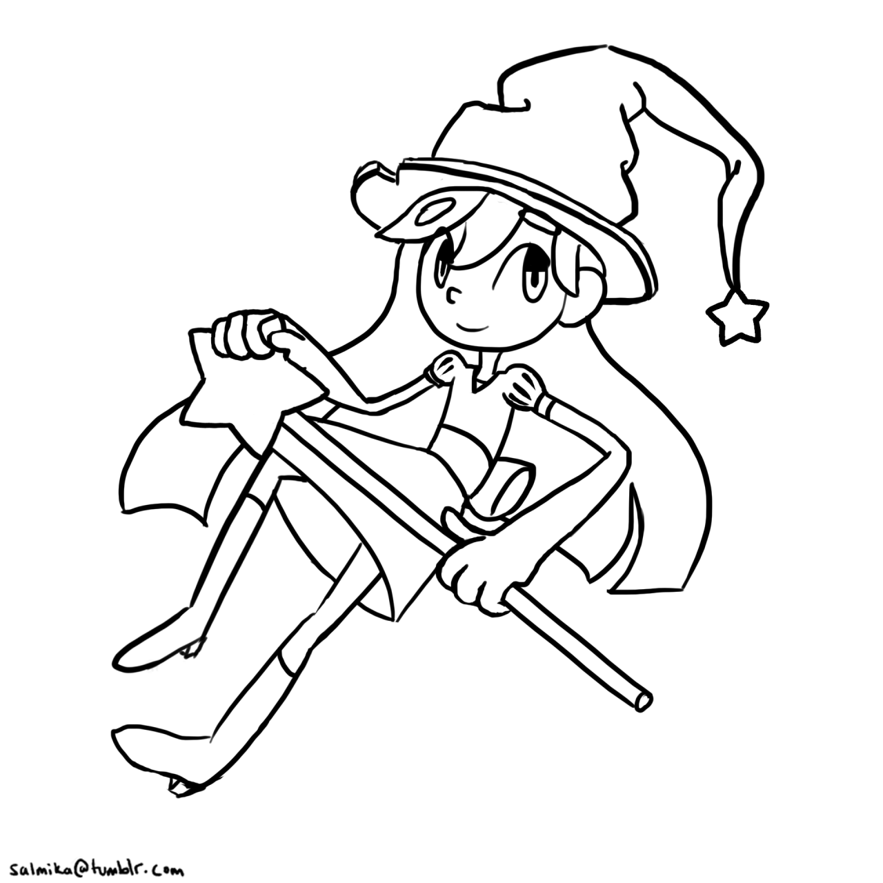 Today's daily doodle is just the outline, tomorrow will be color! :D #44