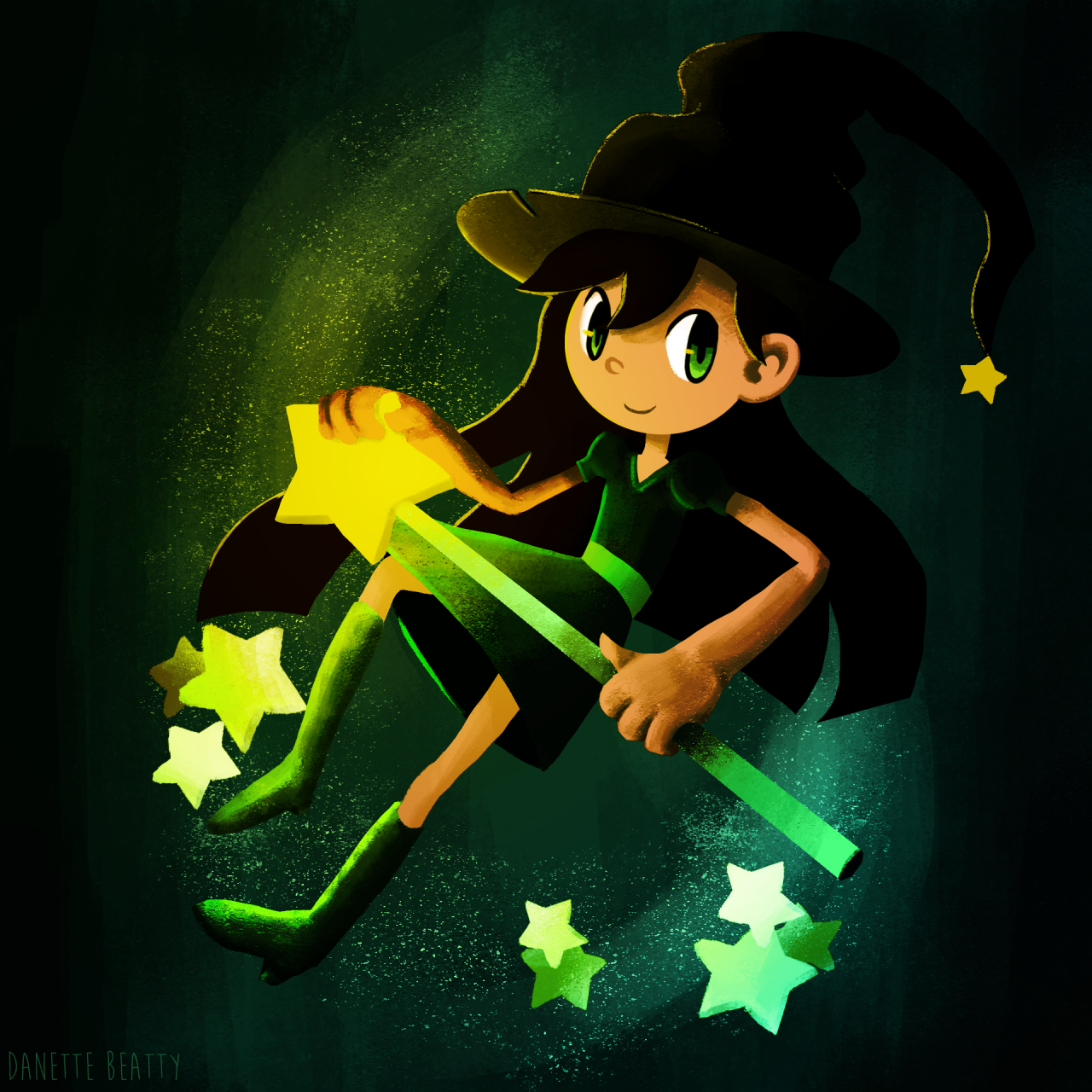 Witch girl all nice and colored up! I swear coloring and lighting is becoming my favorite thing <3 #45