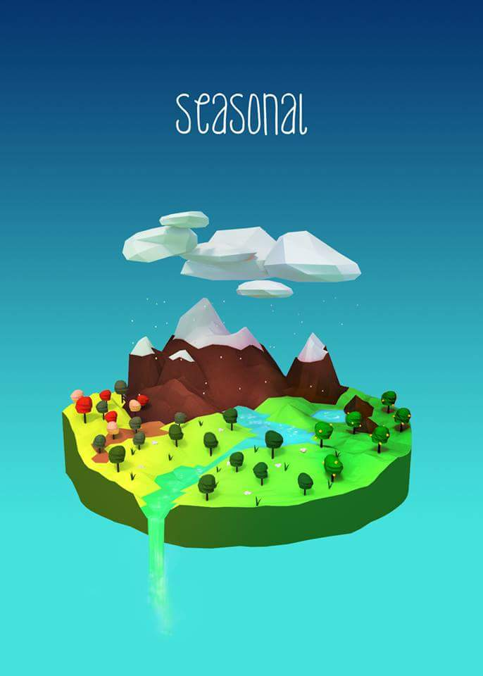 Low poly scene for my game idea :3