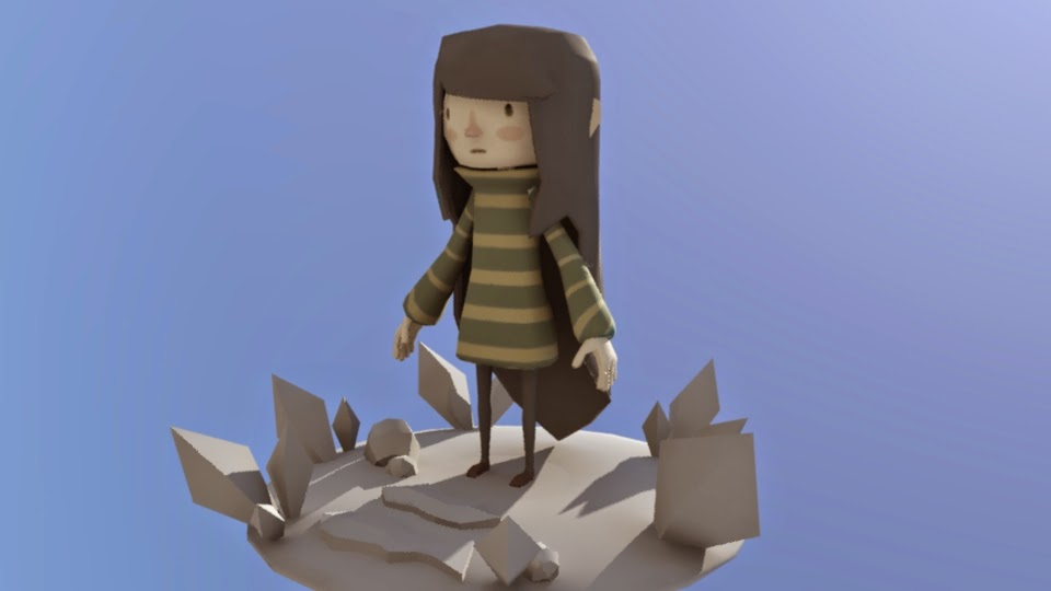 My low poly character Sophia for my game Spiral!