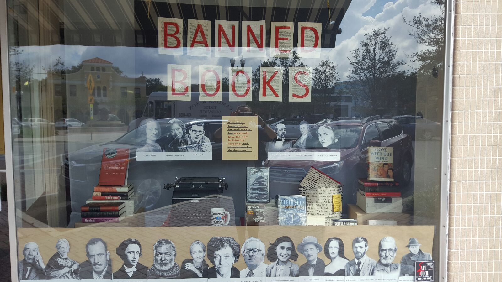 Literary window shopping  at San Marco Books and More in Jacksonville, Florida .