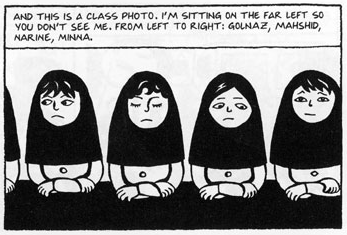 Drawing from  Persepolis  at Randomhouse.com